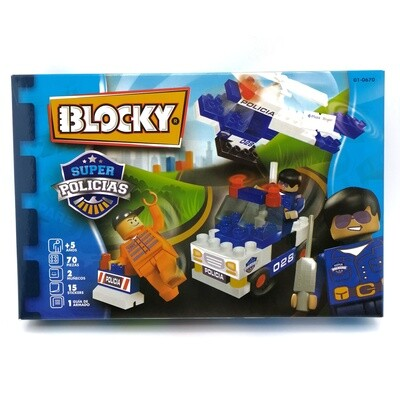 BLOCKY SUPER POLICIAS 70PZS