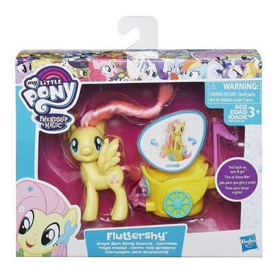 MY LITTLE PONY FLUTTERSHY CARRO REAL GIRATORIO