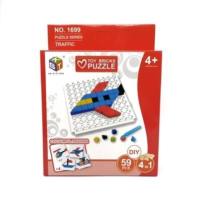 BLOQUES DIY 1699 Y755-B PUZZLE 59PCS