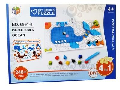 BLOQUES DIY 6991 Y755-B PUZZLE 248PCS