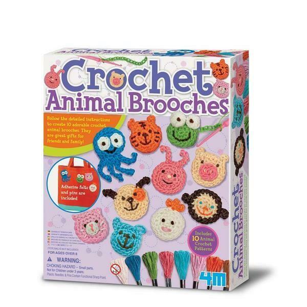 CROCHET ANIMAL BROOCHES 4M