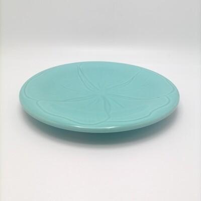 Plato de Postre Hibisco Azul Turquesa VARAGE