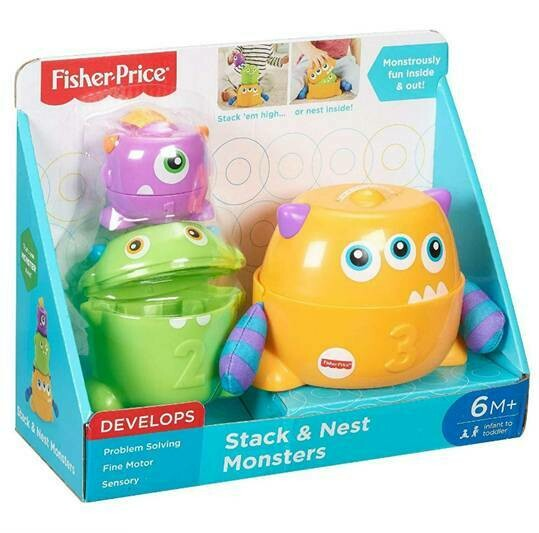 FISHER PRICE STACK & NEST MONSTERS APILABLES