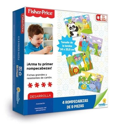 FISHER PRICE ROMP. 4 X 9PZS