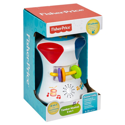 FISHER PRICE TAMBOR MUSICAL 2EN1