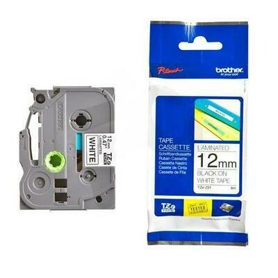 CINTA TZE231 NEGRO/BLANCO 12MM PT9800/PTP900