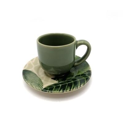 TAZA CAFE C/PLATITO MONACO NATUREZA PORTO BRASIL