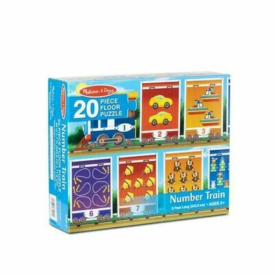31000-ME NUMBER TRAIN FLOOR PUZZLE (20 PC)
