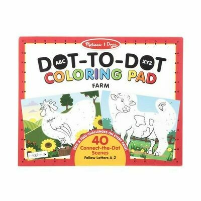 30260-ME ABC DOT-TO-DOT COLORING PAD - FARM
