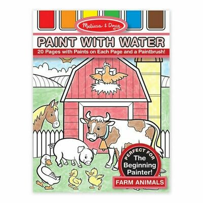4165-ME PAINT WITH WATER - FARM ANIMALS