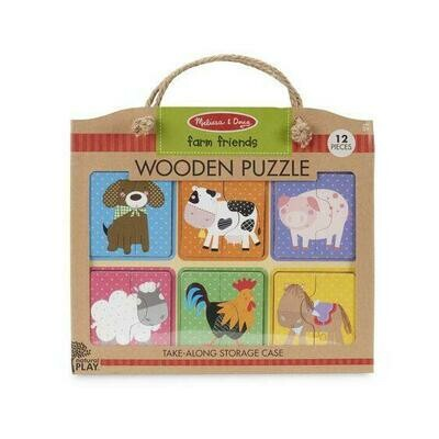 41363-ME WOODEN PUZZLE - FARM FRIENDS