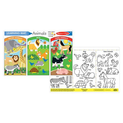 5047-ME ANIMALS LEARNING MAT