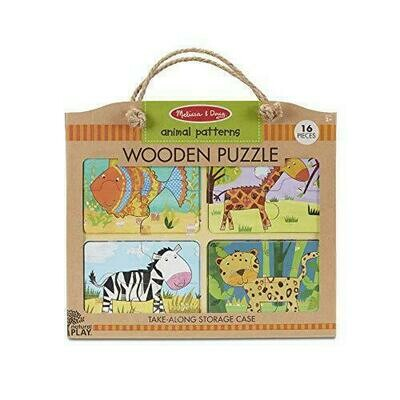 41362-ME WOODEN PUZZLE - ANIMAL PATTERNS