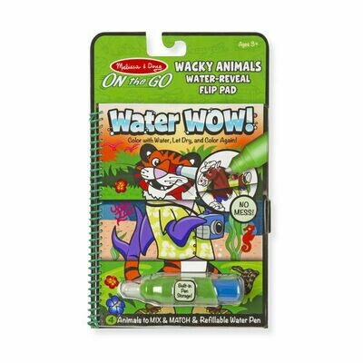 9464-ME WATER WOW! WACKY ANIMALS WATER REVEAL FLIP