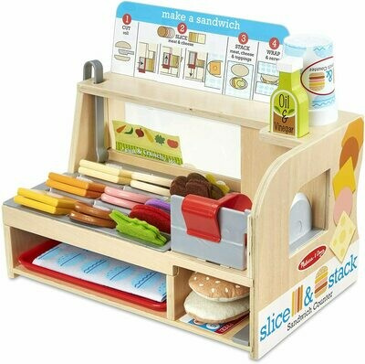 41650-ME WOODEN SLICE & STACK SANDWICH COUNTER