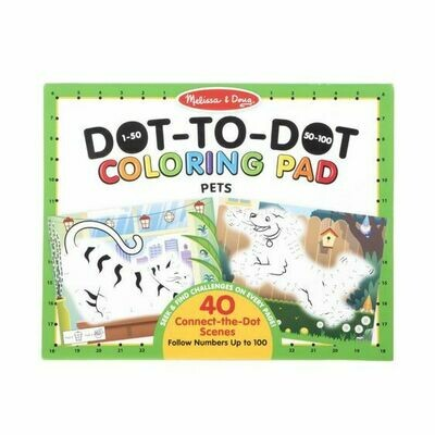 30261-ME 123 DOT-TO-DOT COLORING PADS - PETS