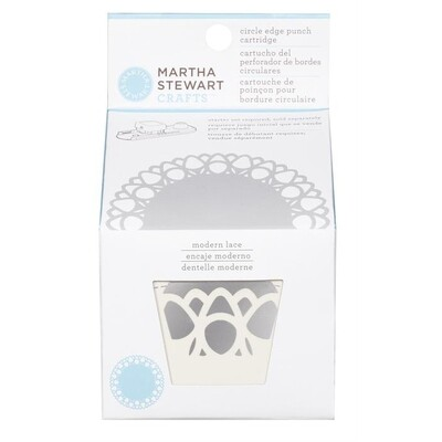MODERN LACE CIRCLE BORDER CARTRIDGE MARTHA STEWART