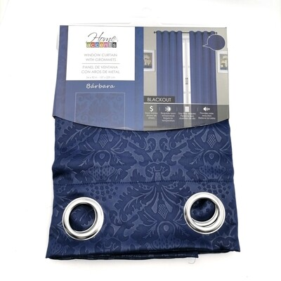 "CORTINA BLACKOUT BARBARA  54X90"" NAVY BLUE"