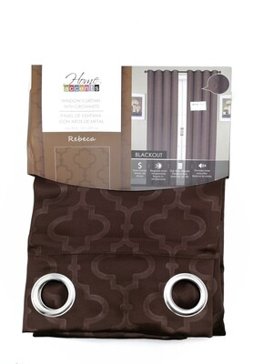 "CORTINA BLACKOUT REBECA  54X90"" CHOCOLATE"