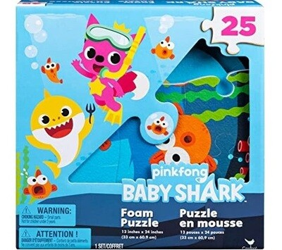 BABY SHARK ROMPECABEZAS FOAM DE PI