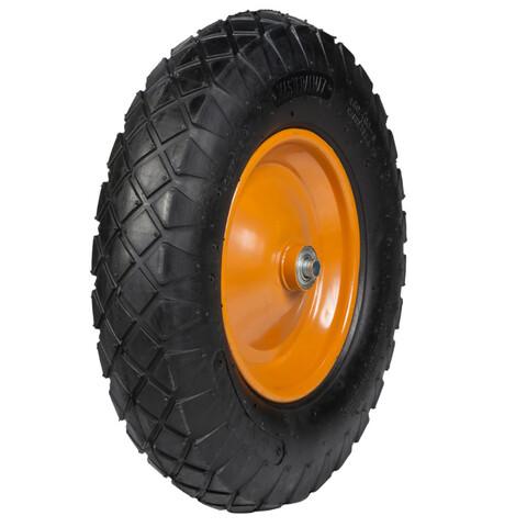 Колесо к тачке PR1612 16x400-8 F 12.7 надувное усиленное широкий протектор 400мм 4.80/4.00-8