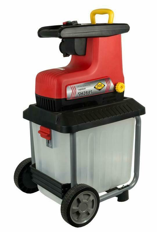 Измельчитель садовый DDE SH2845 Капибара 2820Вт, 3650об/мин, до 45 мм, колёса, сборник 60л, 30кг