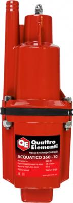Насос вибрационный QUATTRO ELEMENTI Acquatico 260-10 (260Вт, 1080л/ч, для чистой, 60м, 3.2кг, кабель 10м )910-324