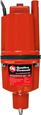 Насос вибрационный QUATTRO ELEMENTI Acquatico 261-10 (260Вт, 1080л/ч, для чистой, 60м, 3.2кг, кабель 10м) 910-331