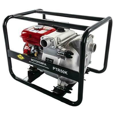 Мотопомпа бензиновая грязевая DDE PTR50K (вых 50 мм, 5.5лc,30м,500л/мин, 3.6л, 52кг)