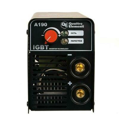 Аппарат электродной сварки, инвертор QUATTRO ELEMENTI A 190 (190 А, ПВ 60%, до 4.0 мм, 3.6 кг, 160-240 В)