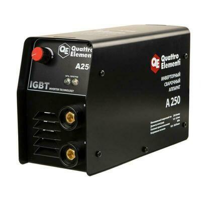 Аппарат электродной сварки, инвертор QUATTRO ELEMENTI A 250 (250 А, ПВ 60%, до 5.0 мм, 5.5 кг, 160-240 В)