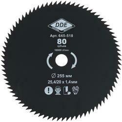 Диск для триммера DDE 80 зубьев 255х25,4мм (толщина - 1,4мм)645-518