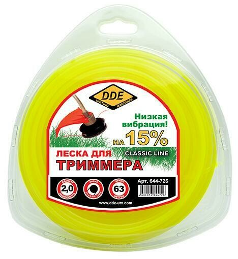 "Корд триммерный DDE в блистере ""Classic Line"" (круг) 2,0ммх63м644-726"