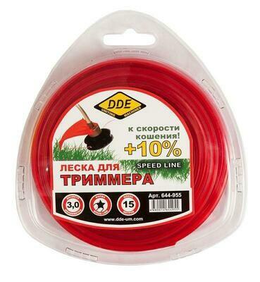 "Корд триммерный DDE ""Speed Line"" (звезда) 3,0ммх15м,красный644-955"