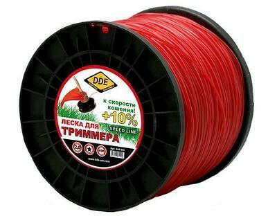 "Корд триммерный DDE ""Speed Line"" (звезда) 2,0ммх498м,красный644-900"