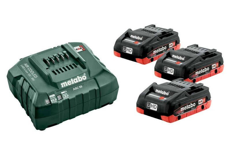 Набор Metabo Basic-Set 18В 3хLiHD 4.0Ah+ASC30) 685132000