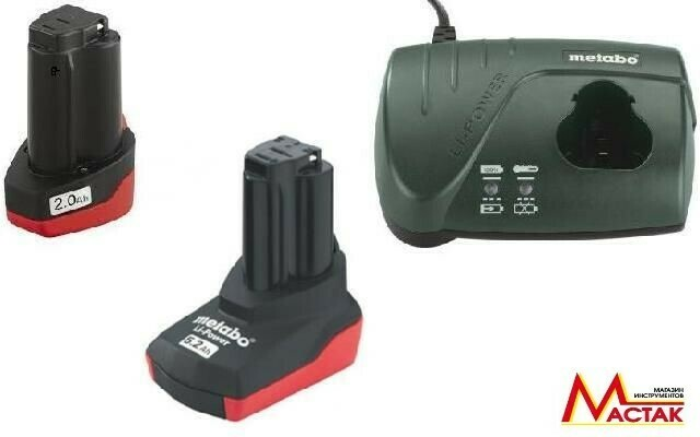 Набор Metabo Basic-Set  10,8 В 1х2,0  1х5,2 Ач+ЗУ