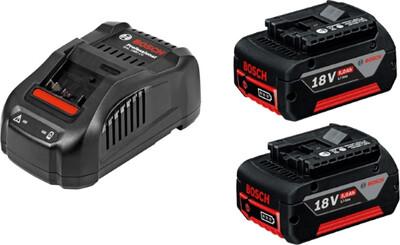 Набор Bosch 2 аккумулятора +Зарядное устройство 1
