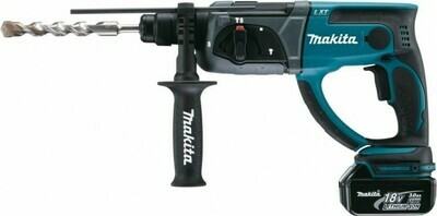 Ак. перфоратор MAKITA DHR202RF SDS-plus (18В, 1.9Дж, 3,2кг, 3реж., 1 акк 3 Ач, Li-ion, кейс)