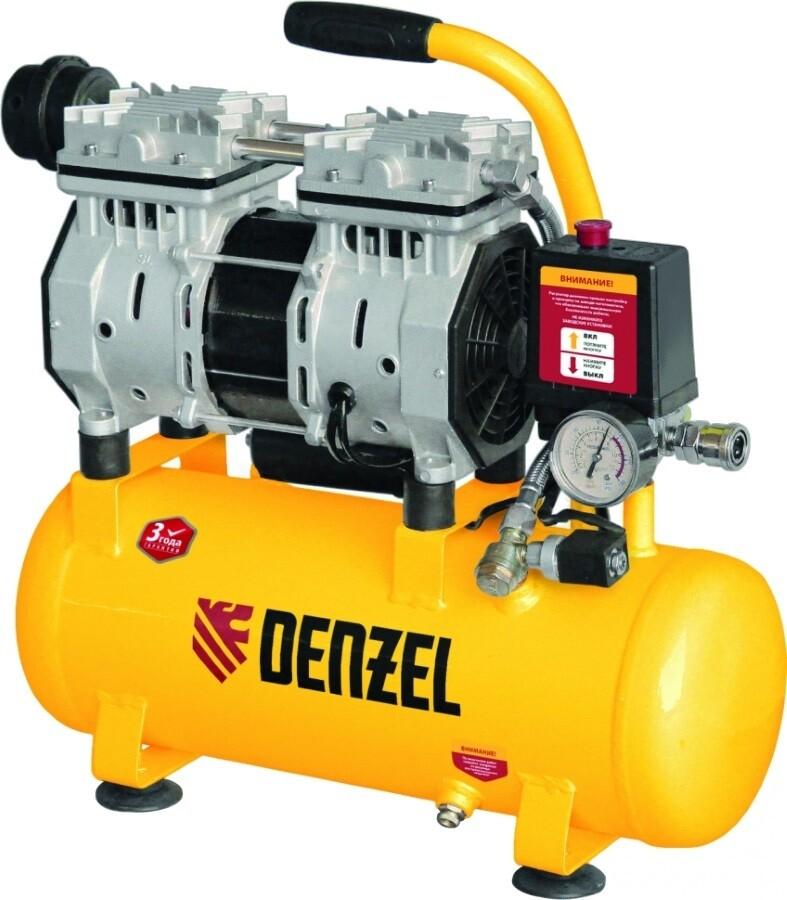 Компрессор Denzel DLS950/24 (безмасл. малошумный 950Вт, 150л/мин, ресивер 24л)