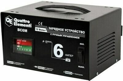Зарядное устройство QUATTRO ELEMENTI BC 6M (12В,6А)