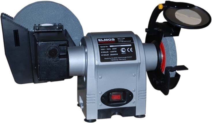 Эл. точило Elmos BG 750  150mm+мокрый диск 200mm