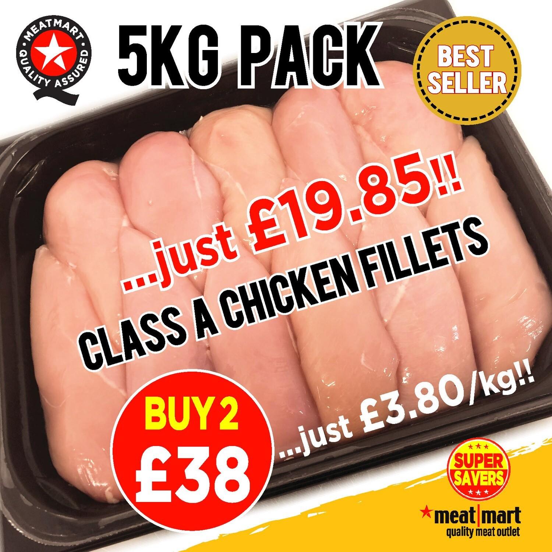 2 x 5KG Fresh Chicken Breast Fillets SPECIAL