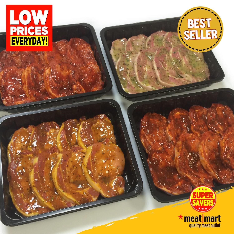 Marinated Pork Loin Steaks (SPECIALS)