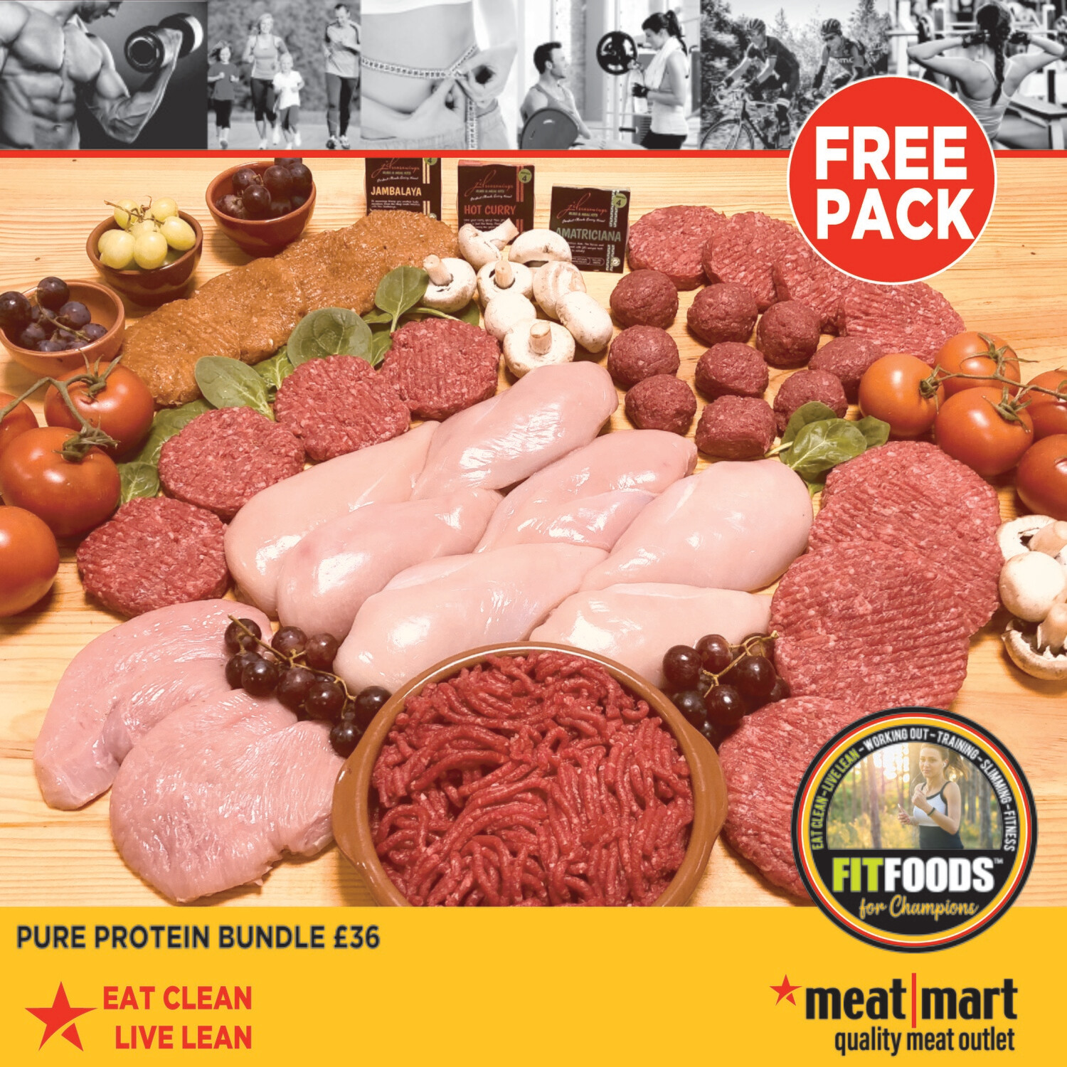 FIT FOODS - Pure Protein Bundle (+ FREE Pack)