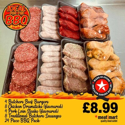 24 PIECE - BBQ PACK £8.99