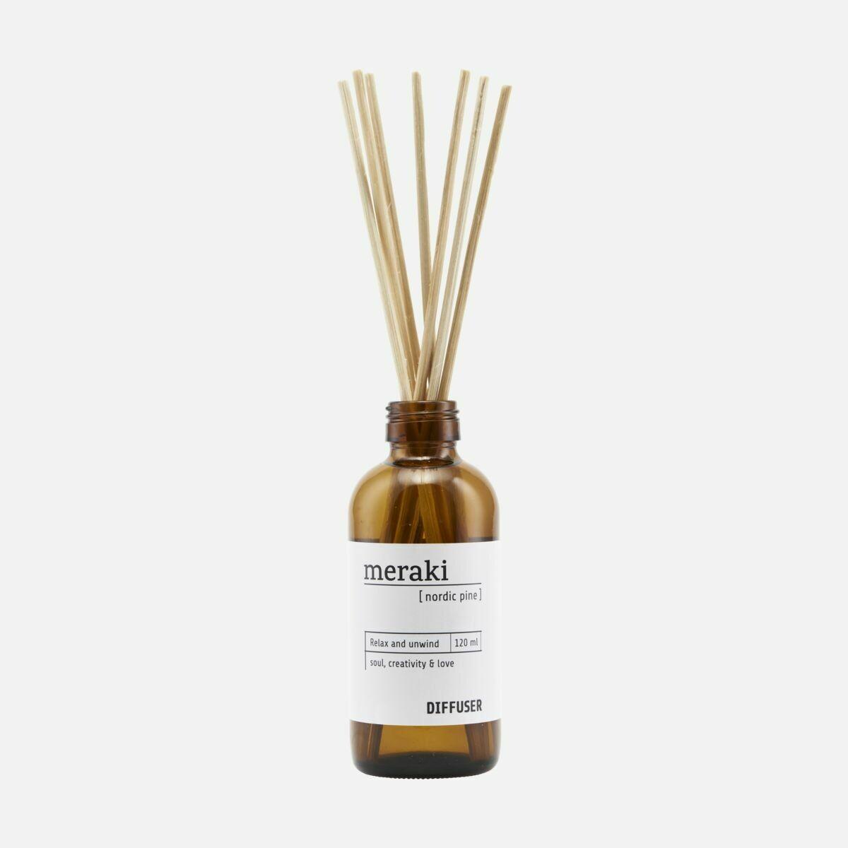 Diffuser w. 7 sticks, Nordic pine