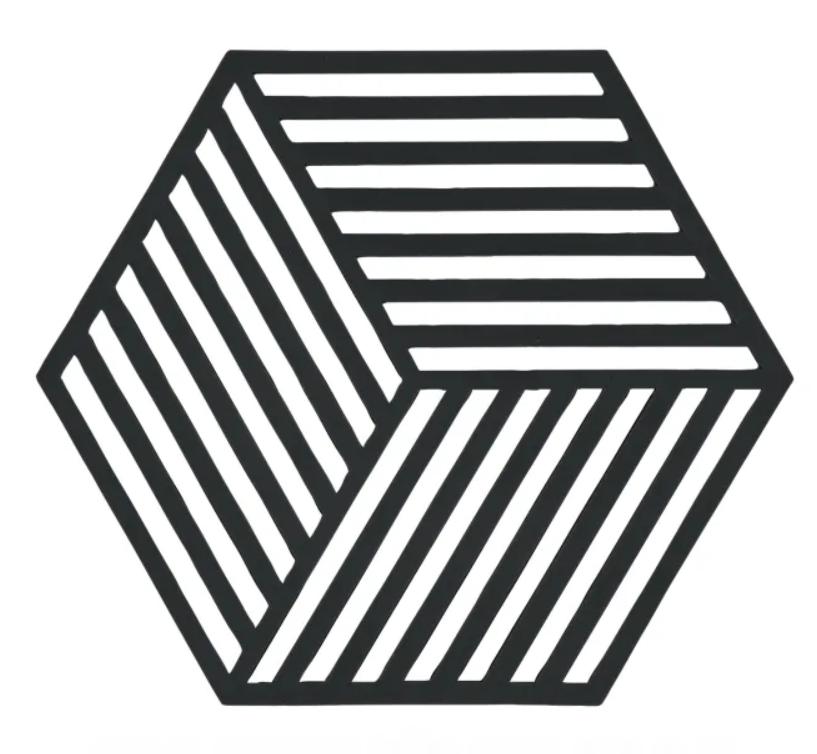 Silicone Hexagon Trivet, Black