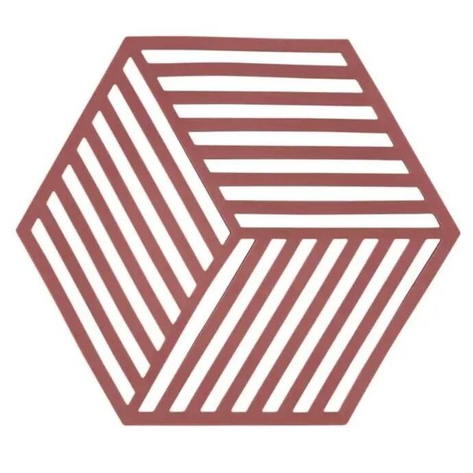 Hexagon Trivet, Siena Red