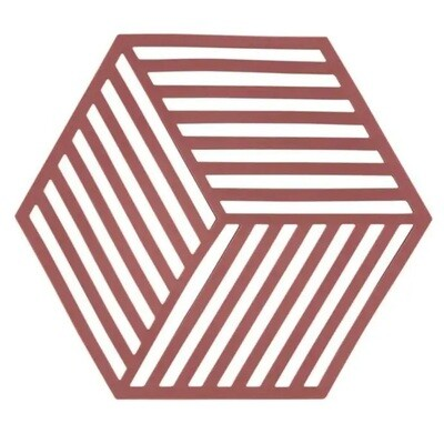 Hexagon Trivet, Siena Red